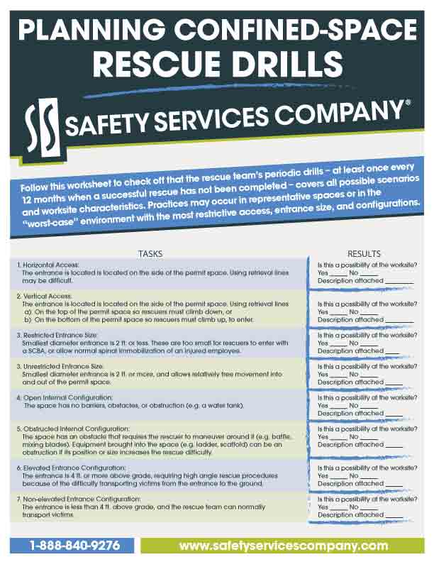 confined space rescue plan template